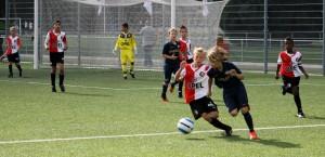 Guus in actie in de wedstrijd Feyenoord-PSV