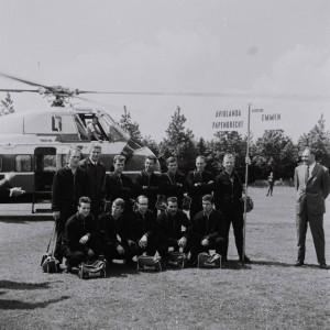 Met de helikopter naar Emmen 1965