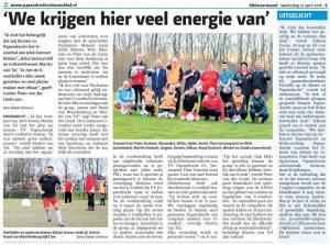 G-voetbal Papendrechts Nieuwsblad 27-04-2016